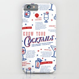 Know Your Cocktails iPhone Case