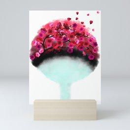 Sakura Blossom Fan Mini Art Print