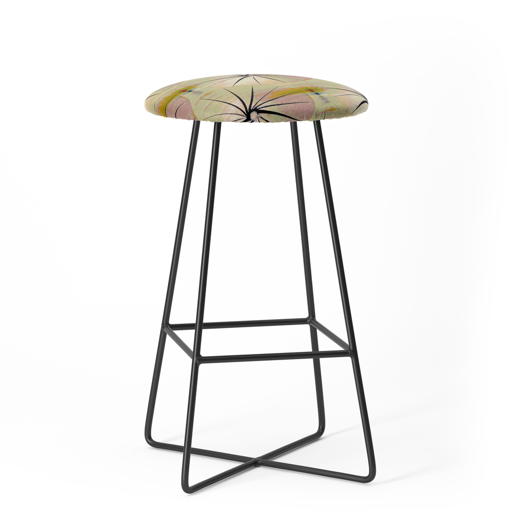 Paper Parasols (Pink Blush) Bar Stool by artisimo (BST7741493) photo