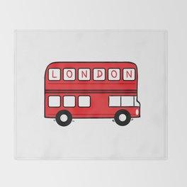 London Bus Throw Blanket
