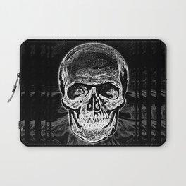 Skull (Black and White) Laptop Sleeve