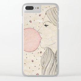 Bubble Gum Clear iPhone Case