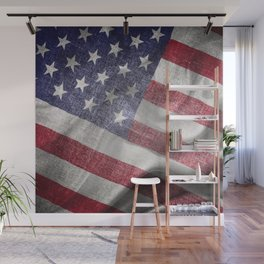 4th of July Fabric of America Wall Mural
