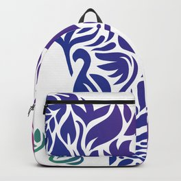 Floral Elephant in Rainbow Gradient Backpack