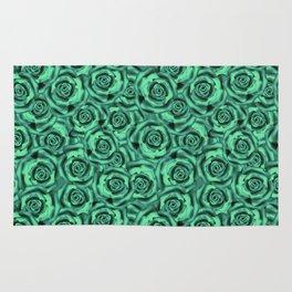 Green floral pattern Rug