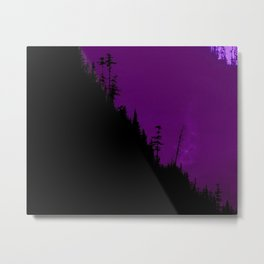 Into The Woods - Dark Forest - Violet Metal Print