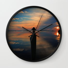 Under a Swooning Sky Wall Clock