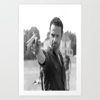 rick grimes Art Prints featuring Rick Grimes by OliGilbert