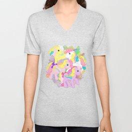 g1 my little pony rainbow curl ponies Unisex V-Neck