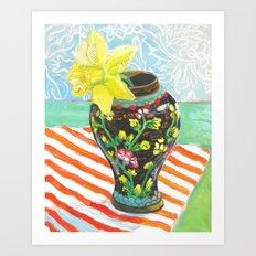 Daffodil in the Ginger Jar Art Print