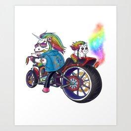 Alpha Unicorn Art Print