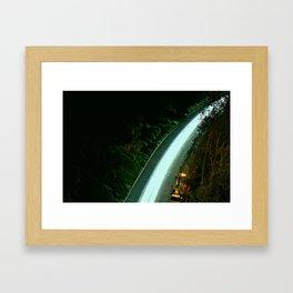 RoadWork Ahead Framed Art Print
