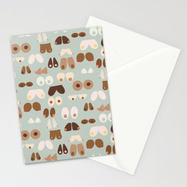 Breasts - blue Stationery Cards