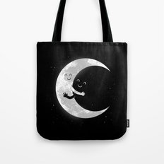 Moon Hug Tote Bag