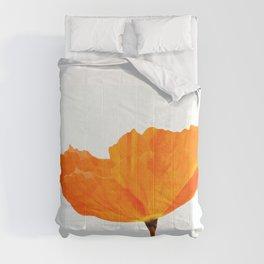 One And Only - Orange Poppy White Background #decor #society6 #buyart Comforters
