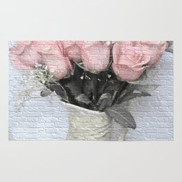 Love Silently - Flower Art Rug
