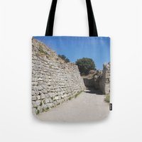 caleb troy Tote Bags featuring Troy by Malcolm Snook