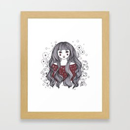 Blossom Girl Framed Art Print