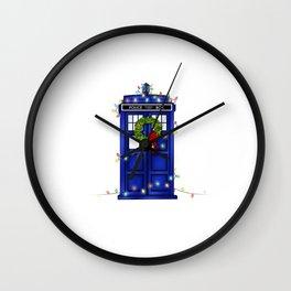 Christmas Phone Box Wall Clock