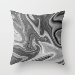 Slippery Moon Throw Pillow
