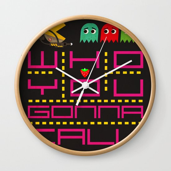 pacman ghostbuster Wall Clock