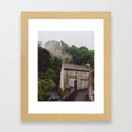 Fog over the country house Framed Art Print