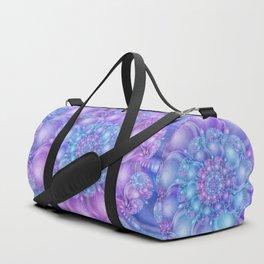 Cerulean Blue & Violet Spiral Duffle Bag
