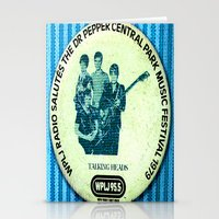 talking heads Stationery Cards featuring Central Park talking heads 1979 by Del Gaizo