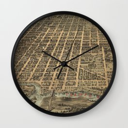 Vintage Map of London Canada (1896) Wall Clock
