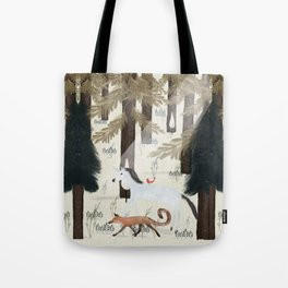 the fox and unicorn Tote Bag