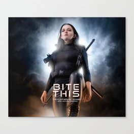 Bite This Canvas Print