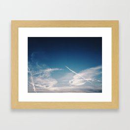 Blue Skies are calling, Groningen, Netherlands Framed Art Print