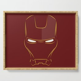 iron man face Serving Tray