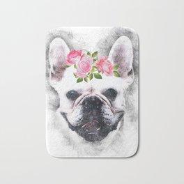 Frenchie Bulldog Bath Mat