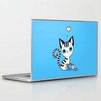 kitten Laptop & iPad Skins featuring Kitten by Freeminds