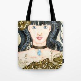 Moth Girl Tote Bag