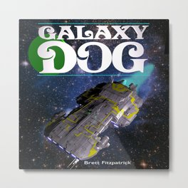 Galaxy Dog Metal Print