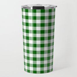 Green Buffalo Plaid Travel Mug