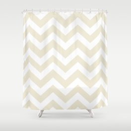 Eggshell - pink color - Zigzag Chevron Pattern Shower Curtain