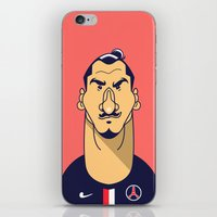 zlatan iPhone & iPod Skins featuring Zlatan portrait by Rudi Gundersen