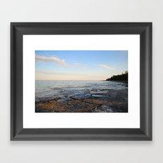 LIVE ON THE LAKE. Framed Art Print
