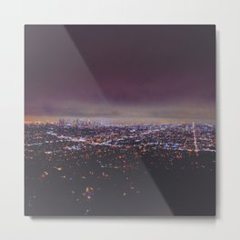 Smokey Skyline Metal Print