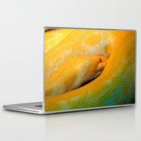 monty python Laptop & iPad Skins featuring Albino Python by GardenGnomePhotography