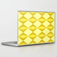 marina and the diamonds Laptop & iPad Skins featuring Abstract golden diamonds  by Zenya Zenyaris