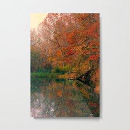 Fall At Oak Creek Pond Metal Print