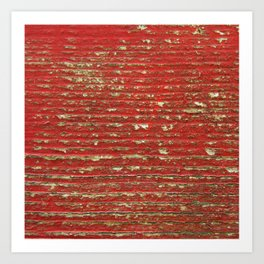 Chipped Red Painted Wood Art Print