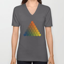 Lichtenberg-Mayer Colour Triangle (Opera inedita - Vol. I, plate III), 1775, Remake, vintage wash Unisex V-Neck