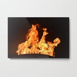 Flame on Metal Print