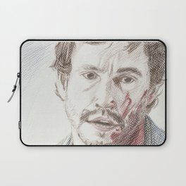 Bloody Will Graham, original colored pencil drawing Laptop Sleeve
