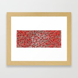 Amalgamation of red Framed Art Print